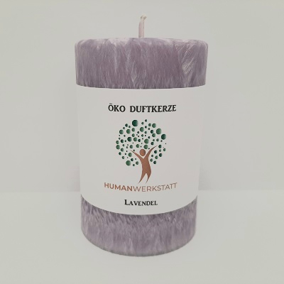 Eco scented candle lavender