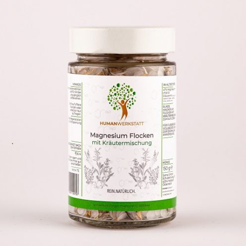 Magnesium flakes round with herbal mixture